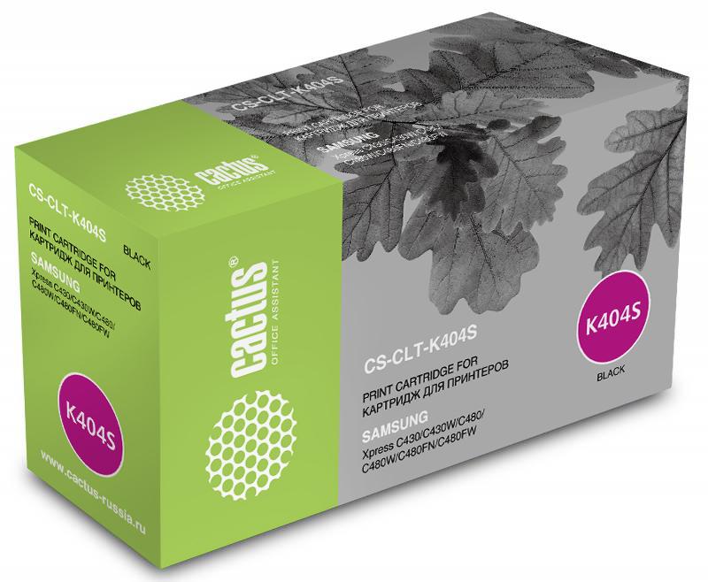 Cactus CS-CLT-K404S, Black тонер-картридж для Samsung SL-C430/C430W/C480/C480W/C480FW принтер samsung sl c430w