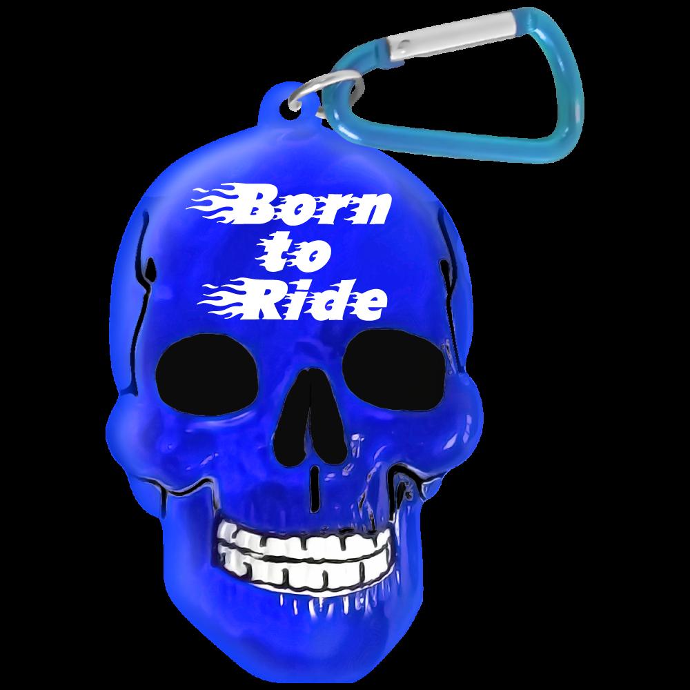 "Брелок Би-Хэппи ""Череп. Born To Ride"", цвет: синий"