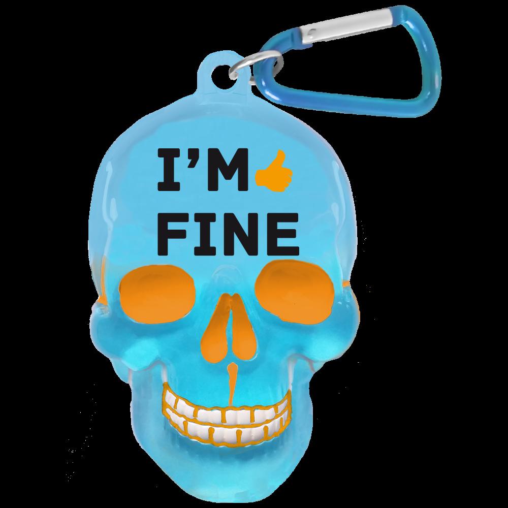 Брелок Би-Хэппи Череп. Im Fine, цвет: голубойПолимерОригинальный брелок для ключей. Аксессуар выполнен в виде черепа и сразу привлекает внимание.Отличный сувенир для творческих и неординарных! Купить брелок череп можно себе или в подарок для близких, друзей или коллег.