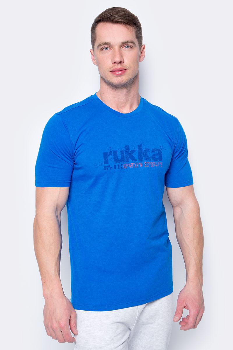 Купить Футболка мужская Rukka, цвет: синий. 979458215RV_343. Размер S (48)
