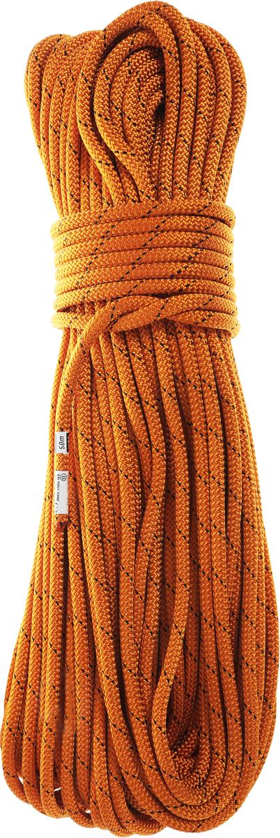 """Веревка статическая Vento """"Static"""", цвет: желтый, диаметр 9 мм, длина 50 м"""