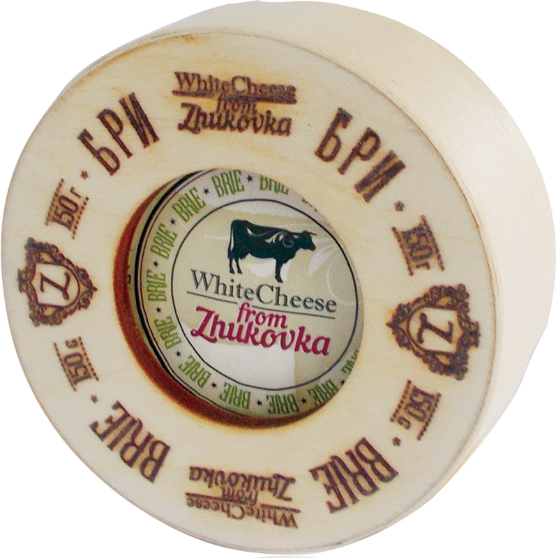 WhiteCheese from Zhukovka Сыр Бри с белой плесенью 60%, 150 г (деревянная упаковка) село зеленое сыр гауда премиум 40% 250 г