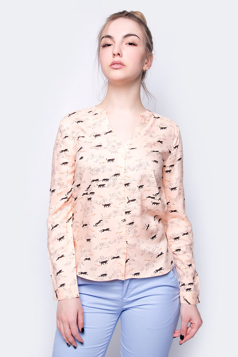 Блузка женская Sela, цвет: персиковый. B-112/1001-8243. Размер 52
