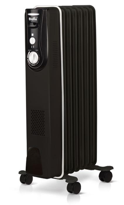 Ballu ModernBOH/MD-07BBN1500масляныйрадиаторНС-1071478Маслонаполненные радиаторы BALLU – это мобильные и современные приборы, выполненные в эксклюзивном дизайнерском решении. Антикоррозийный состав защищает модели от негативных воздействий внешней среды, матовое текстурное покрытие увеличивает теплоотдачу на 20%, а высокоточный термостат нового поколения автоматически поддерживает температуру в помещении. Отличительные особенности: Модель выделяется ярким черным корпусом с эффектной белой окантовкой Защитный антикоррозийный состав Protective coating - защищает масляный радиатор от негативных воздействий внешней среды и увеличивает срок службы Термостат нового поколения Opti-Heat - с функцией автоматического поддержания температуры и удобным эргономичным управлением. Конструкция ножек High Stability - благодаря специальной конструкции ножек, полностью исключается возможность опрокидывания Оптимальная перфорация на фронтальной стенке радиатора – увеличивает эффективность обогрева на 20% и срок службы масляного радиатора. Функциональные особенности: Полная свобода перемещения с комплексом Easy moving Два режима мощности обогрева Универсальная система хранения шнура Режимы работы: Мощность обогрева 750Вт Мощность обогрева 1500Вт