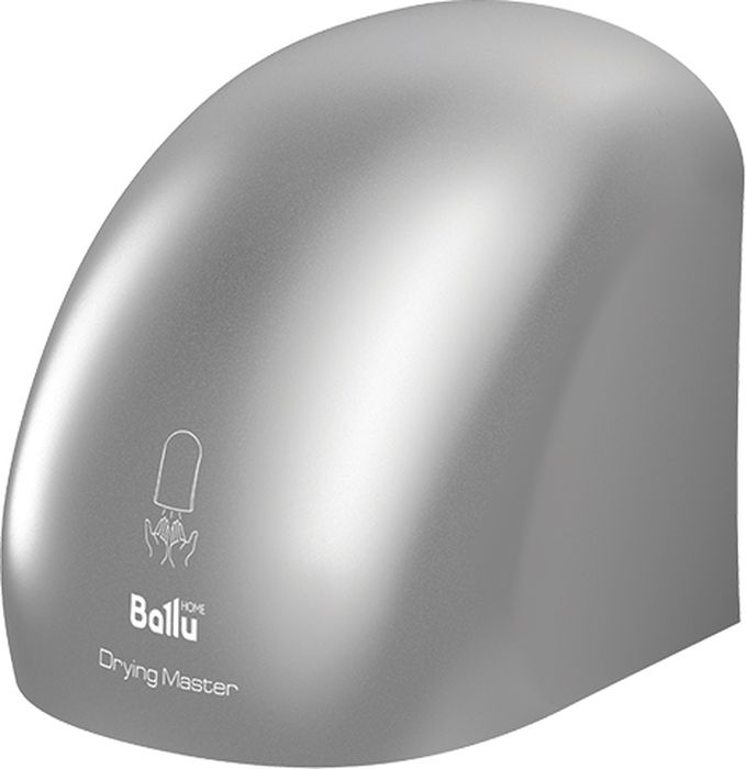 Ballu BAHD-2000DM, Silver сушилка для рукНС-1077894Сушилка для рук Ballu BAHD-2000 DM с запатентованной технологией корпуса, изготовлена из экологически чистого ABS-пластика, который сохранит свой оттенок с течением времени. Инфракрасный датчик реагирует на приближение или отдаление рук и автоматически включает или выключает прибор. При максимальной мощности до 2 кВт создает скорость потока до 15 м/с под идеальным углом обдува 30°.В комплект поставки включен монтажный шаблон для быстрой установки.Максимальная скорость потока: 15 м/с. Уровень шума: 60 дБ. Максимальная температура воздуха на выходе: 90°С.