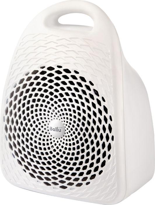Ballu BFH/S-01 тепловентиляторНС-1133493Тепловентилятор Ballu BFH/S-01 оснащен высокоэффективным спиральным нагревательным элементом 1500 Вт.Благодаря технологии Fast Wind прибор мгновенно обогревает помещение площадью до 20 м2. Тепловентиляторотличается пониженным уровнем шума в процессе работы, что делает его использование максимальнокомфортным. Режим вентиляции без обогрева позволяет использовать прибор и летом в качестве обычноговентилятора. Возможность регулирования, как мощности, так и температуры нагрева воздуха позволяет создатьнаиболее комфортный микроклимат в помещении. Благодаря уникальному авторскому дизайну тепловентиляторстанет украшением любого интерьера.Надежность и безопасность тепловентиляторов Ballu подтверждена сертификатом пожарной безопасности.