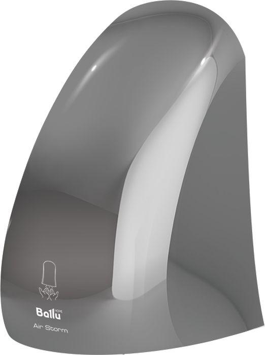 Ballu BAHD-1000AS, Chrome сушилка для рукНС-1135450Сушилка для рук Ballu BAHD-1000AS Chrome в корпусе из экологически чистого ABS пластика имеетзапатентованный авторский дизайн в хромовом оттенке. Особое удобство обеспечивает кнопкавключения/отключения прибора. Очищаемый воздушный фильтр защищает кожу рук от контакта с пылью ибактериями. Модель гарантирует высокоскоростную сушку всего за 10 секунд с производительностью до 30 м/с,работая в режимах с мощностью 450/1000 Вт. Энергоэффективность прибора соответствует классу A. Для быстройустановки в комплекте поставляется монтажный шаблон.