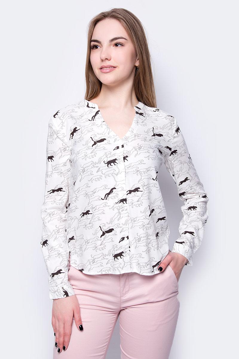Блузка женская Sela, цвет: молочный. B-112/1001-8243. Размер 50