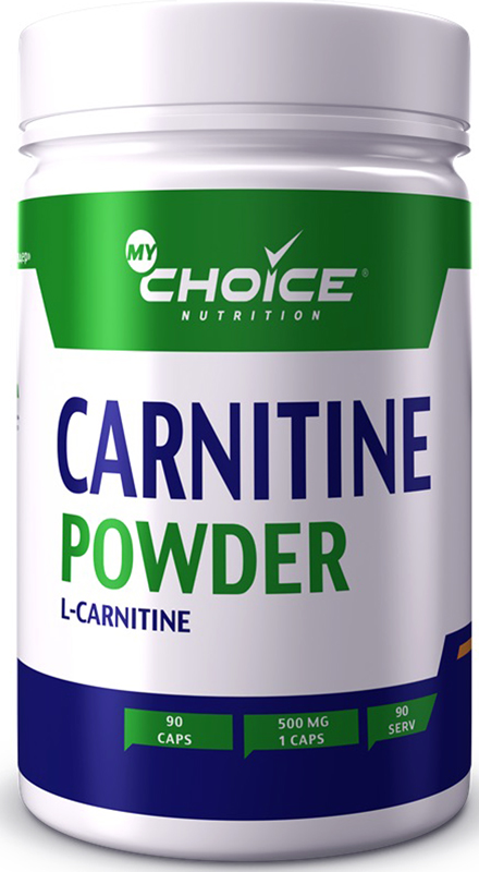 Карнитин MyChoice Nutrition Carnitine Powder, 90 капсул витамины mychoice nutrition vitamin c апельсин 60 шт