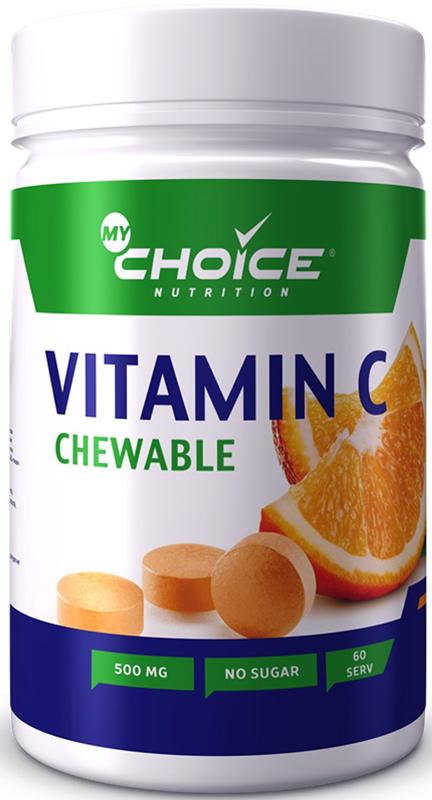 Витамины MyChoice Nutrition Vitamin C, апельсин, 60 шт витамины mychoice nutrition vitamin c апельсин 60 шт