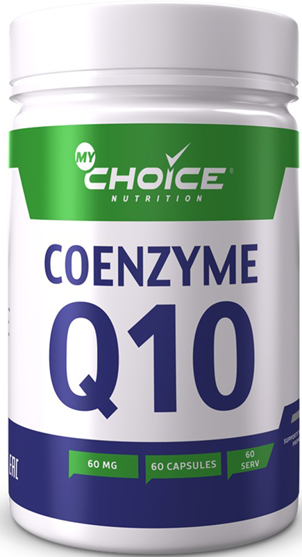 Коэнзим MyChoice Nutrition CoQ10, 60 шт напиток mychoice nutrition my fitness l carnitine 2700 shot лесные ягоды 9 x 60 мл