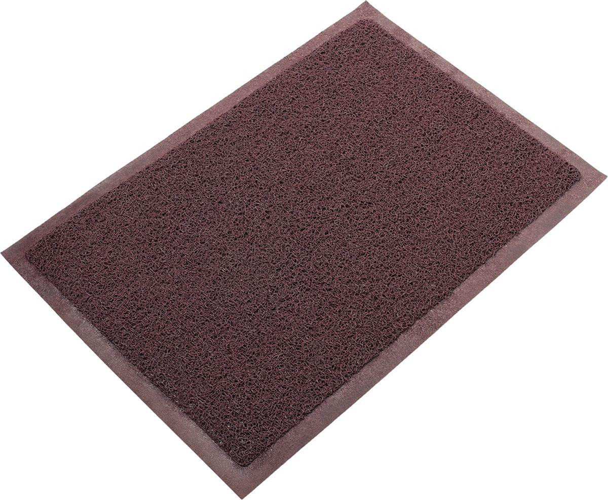 Коврик придверный Vortex, пористый, цвет: коричневый, 60 x 40 см22176Коврик придверный Vortex для очистки обуви при входе в помещение. Собирает грязь и песок с подошв и прочно удерживает их внутри своей структуры, не скользит.Материал: ПВХ.