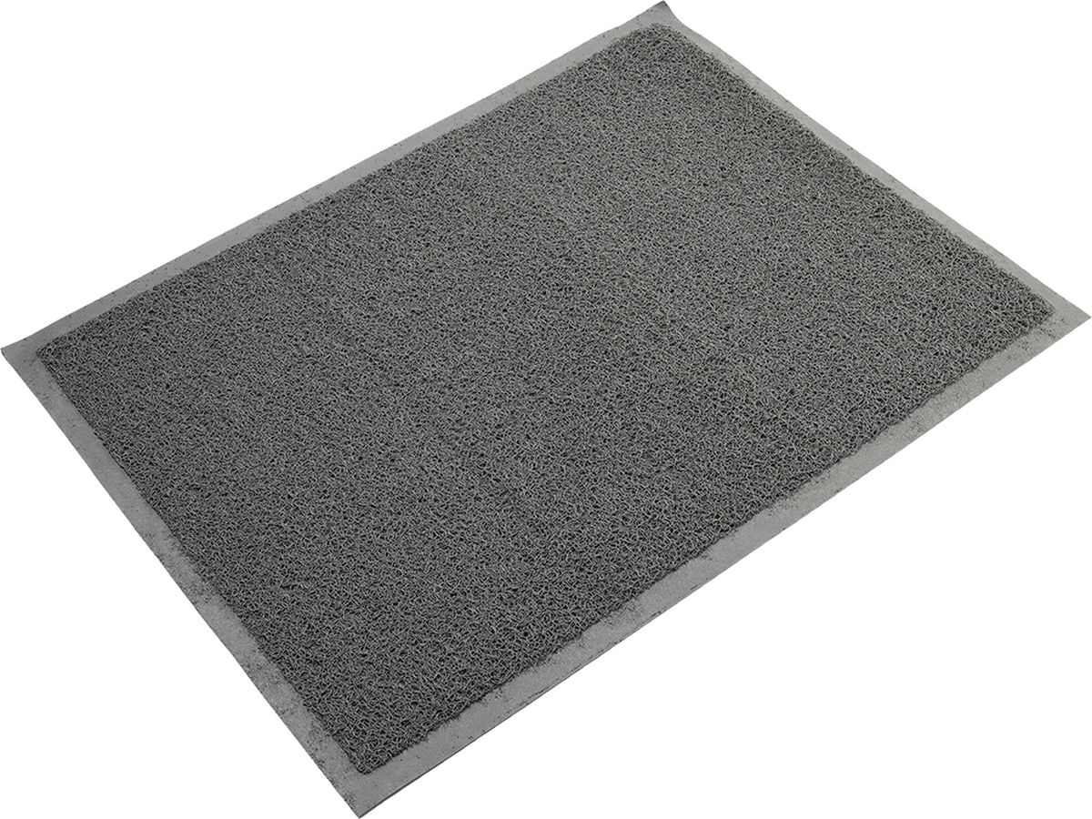 Коврик придверный Vortex, пористый, цвет: серый, 70 x 50 см22187Коврик придверный Vortex для очистки обуви при входе в помещение. Собирает грязь и песок с подошв и прочно удерживает их внутри своей структуры, не скользит.Материал: ПВХ.