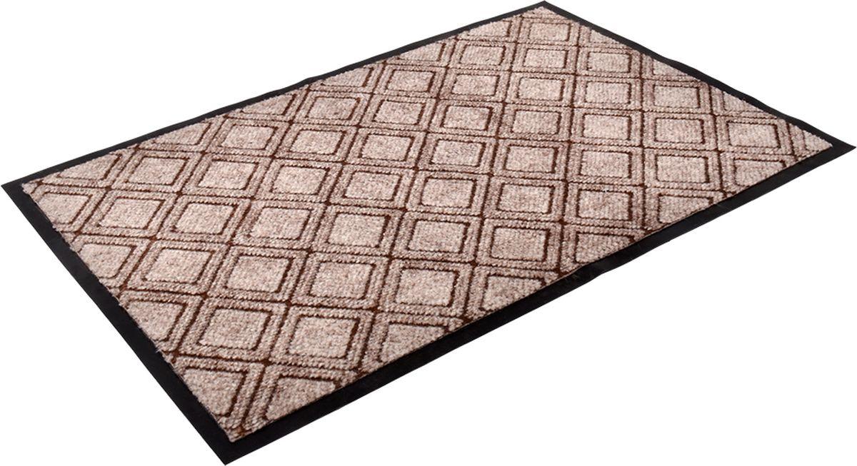 Коврик придверный Vortex Hall, влаговпитывающий, цвет: коричневый, 90 x 60 см. 2408024080Коврик очищает обувь от грязи и задерживает влагу при входе в помещение, не скользит.Материал: ворс полиэстер, подложка ПВХ.