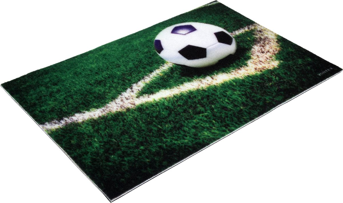 Коврик придверный Vortex Samba Футбол, влаговпитывающий, цвет: зеленый, 60 x 40 см коврик придверный 35х60 см черный свинка vortex 20028