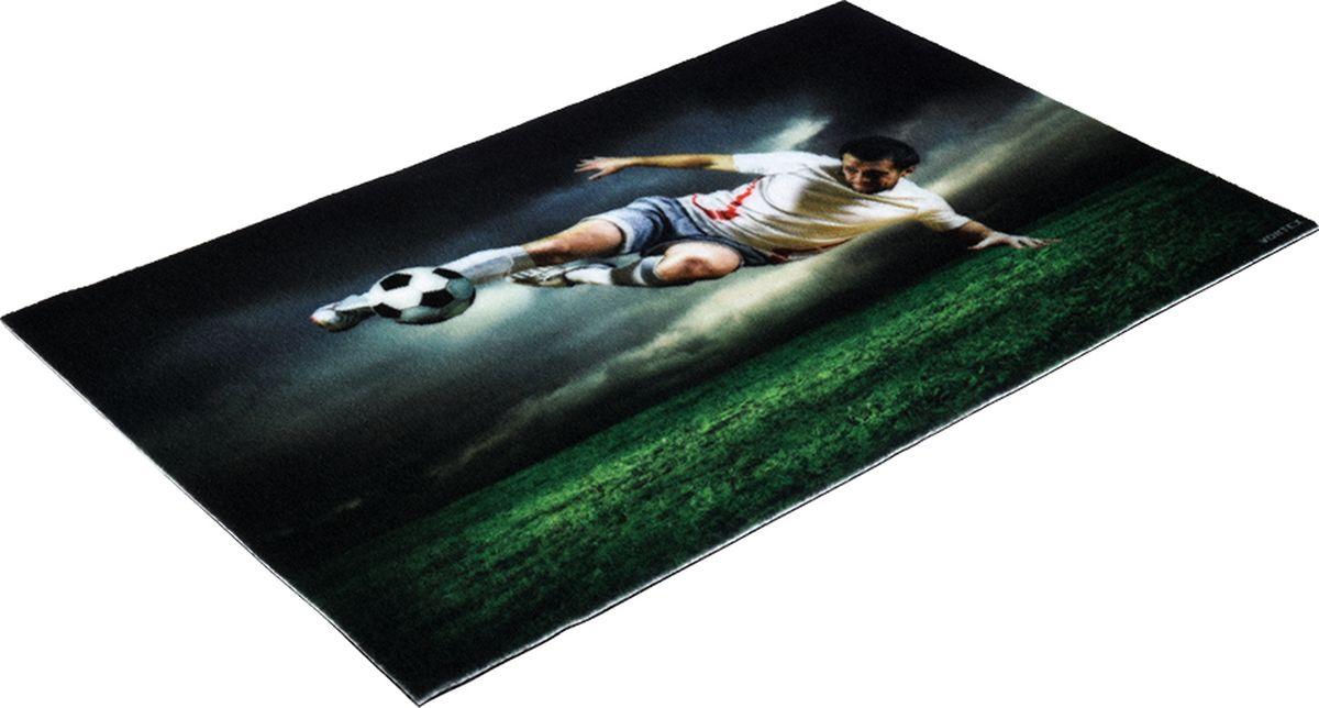 Коврик придверный Vortex Samba Футбол, влаговпитывающий, цвет: мультиколор, 80 x 50 см коврик придверный 35х60 см черный свинка vortex 20028