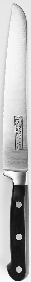 """Нож для хлеба """"Premium"""" в блистере изготовлен из высококачественной нержавеющей стали с эргономичной ручкой. Длина лезвия: 21 см. Нож можно затачивать традиционным способом. Пользоваться металлическими мочалками, абразивными чистящими средствами и средствами с хлором не рекомендуется. Мыть предметы из нержавеющей стали рекомендуется обычной губкой и жидким моющим средством. После мытья, чтобы избежать образования известкового налета, предметы из нержавеющей стали необходимо насухо вытирать мягкой впитывающей тканью."""