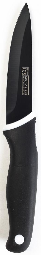 """Кухонный нож """"Holton"""" в блистере, изготовлен из высококачественной нержавеющей стали с антипригарным покрытием и эргономичной ручкой. Длина лезвия 9 см. Нож можно затачивать традиционным способом. Пользоваться металлическими мочалками, абразивными чистящими средствами и средствами с хлором не рекомендуется. Мыть предметы из нержавеющей стали рекомендуется обычной губкой и жидким моющим средством. После мытья, чтобы избежать образования известкового налета, предметы из нержавеющей стали необходимо насухо вытирать мягкой впитывающей тканью."""