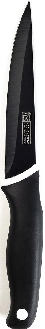 """Нож универсальный """"Holton"""" в блистере, изготовлен из высококачественной нержавеющей стали с антипригарным покрытием и эргономичной ручкой. Длина лезвия: 13 см. Нож можно затачивать традиционным способом. Пользоваться металлическими мочалками, абразивными чистящими средствами и средствами с хлором не рекомендуется. Мыть предметы из нержавеющей стали рекомендуется обычной губкой и жидким моющим средством. После мытья, чтобы избежать образования известкового налета, предметы из нержавеющей стали необходимо насухо вытирать мягкой впитывающей тканью."""