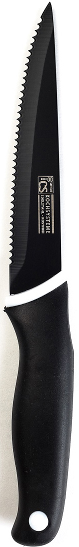 """Нож для стейка """"Holton"""" в блистере изготовлен из высококачественной нержавеющей стали с антипригарным покрытием и эргономичной ручкой. Длина лезвия: 14 см. Нож можно затачивать традиционным способом. Пользоваться металлическими мочалками, абразивными чистящими средствами и средствами с хлором не рекомендуется. Мыть предметы из нержавеющей стали рекомендуется обычной губкой и жидким моющим средством. После мытья, чтобы избежать образования известкового налета, предметы из нержавеющей стали необходимо насухо вытирать мягкой впитывающей тканью."""