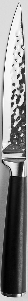 """Универсальный нож """"Stern"""" из нержавеющей стали с эргономичной ручкой. Длина лезвия: 13 см. Нож можно затачивать традиционным способом. Пользоваться металлическими мочалками, абразивными чистящими средствами и средствами с хлором не рекомендуется. Мыть предметы из нержавеющей стали рекомендуется обычной губкой и жидким моющим средством. После мытья, чтобы избежать образования известкового налета, предметы из нержавеющей стали необходимо насухо вытирать мягкой впитывающей тканью."""