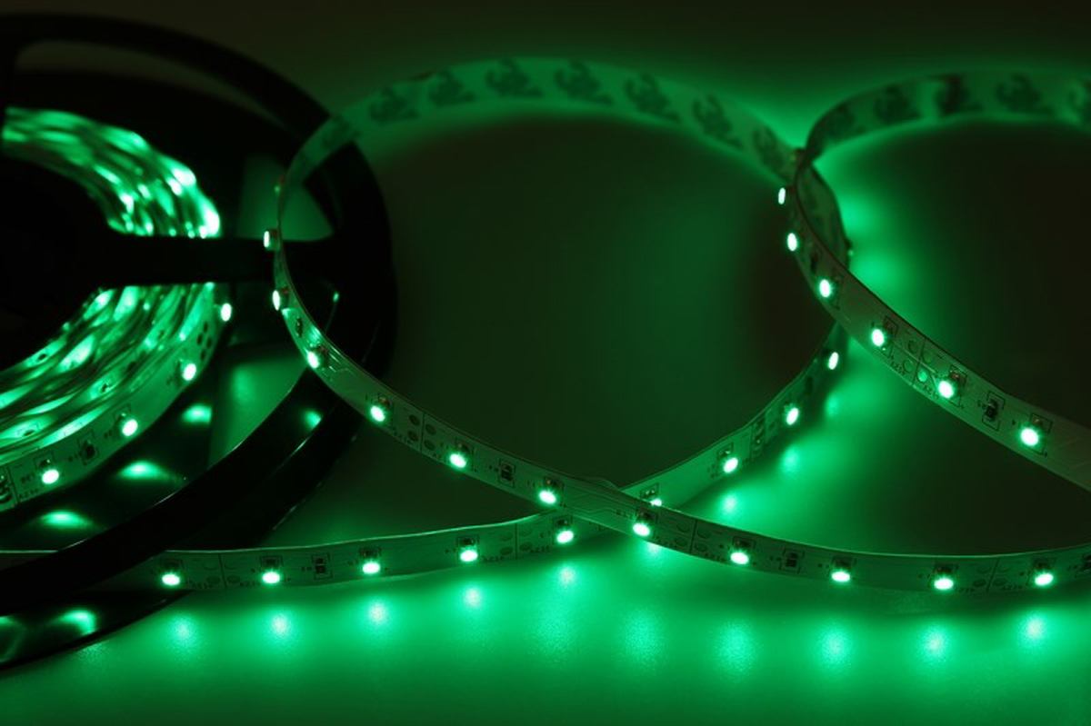 Светодиодная лента Neon-Night SMD 3528, 8 мм, IP23, 60 LED/m, 12V, цвет: зеленый