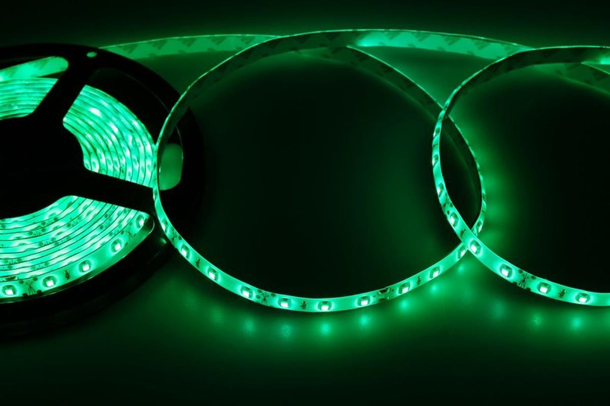 Светодиодная лента Neon-Night SMD 3528, силикон, 8 мм, IP65, 60 LED/m, 12V, цвет: зеленый