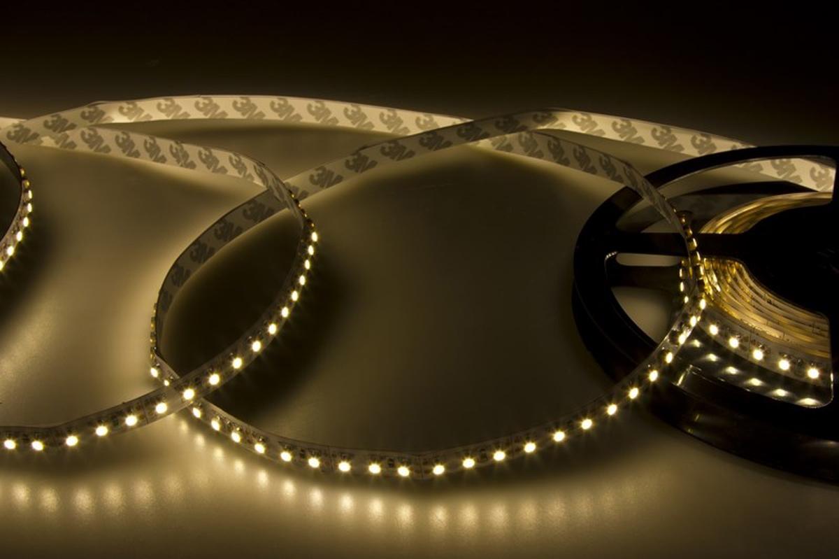 Светодиодная лента Neon-Night SMD 3528, 8 мм, IP23, 120 LED/m, 12V, цвет: тепло-белый лента светодиодная neon night smd 3528 ip23