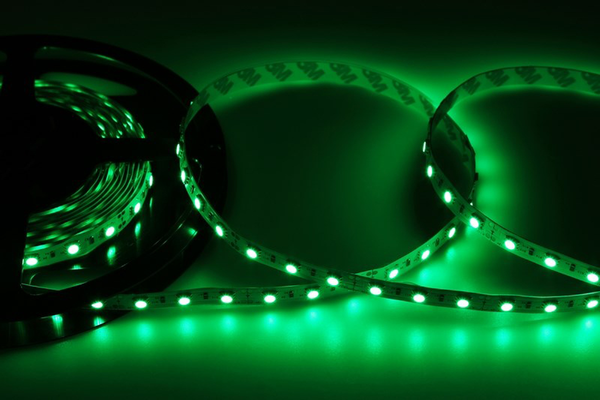 Светодиодная лента Neon-Night SMD 5050, 10мм, IP23, 60 LED/m, 12V, цвет: зеленый