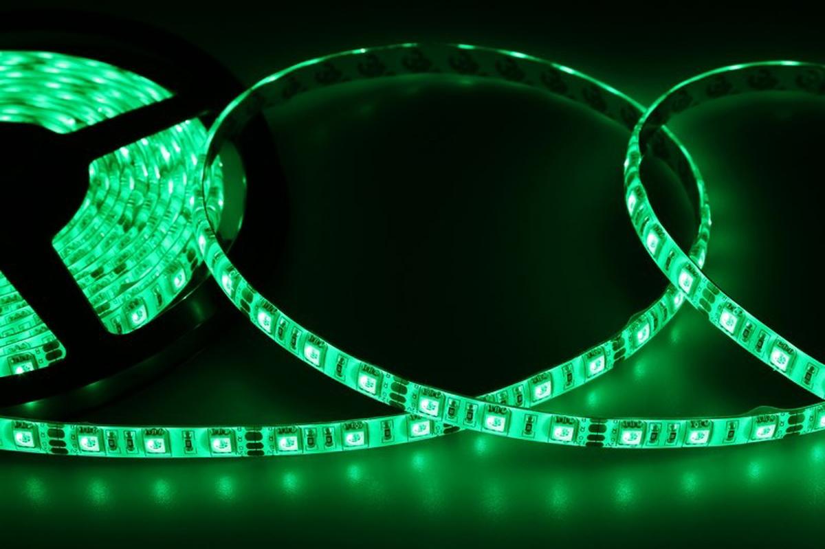 Светодиодная лента Neon-Night SMD 5050, силикон,10мм, IP65, 60 LED/m, 12V, цвет: зеленый