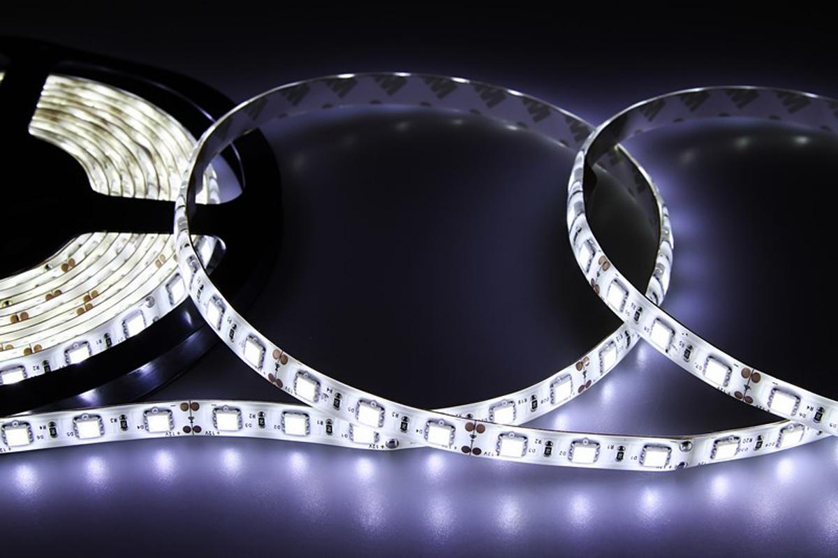 Светодиодная лента Neon-Night SMD 5050, силикон, 10мм, IP65, 60 LED/m, 12V, цвет: белый