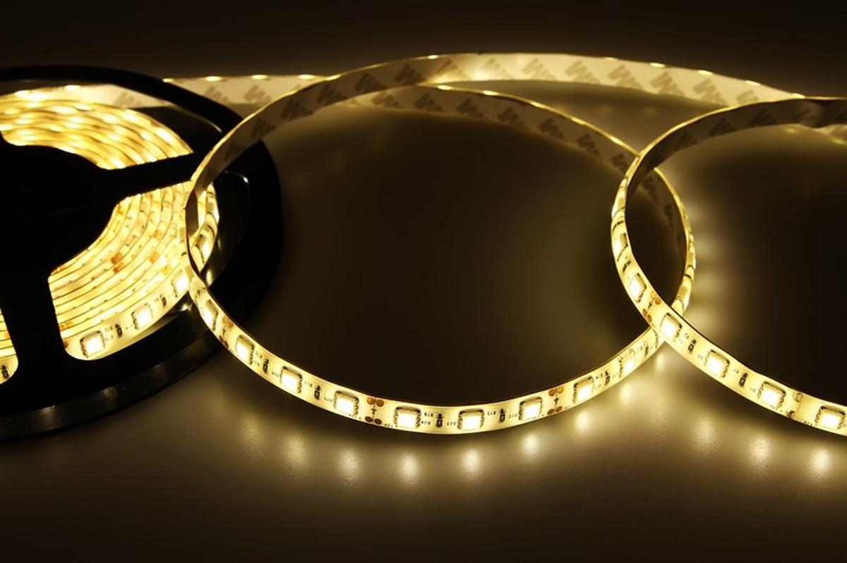 Светодиодная лента Neon-Night SMD 5050, силикон, 10мм, IP65, 60 LED/m, 12V, цвет: тепло-белый