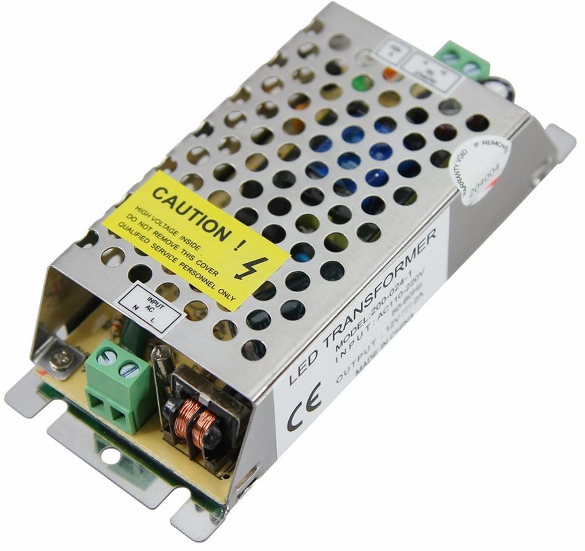Источник питания можно использовать не только для LED продукции, но и для систем безопасности, видеонаблюдения и питания любых других низковольтных систем. Данная модель имеет мощность 24 Вт и разъемы под винт для подключения.