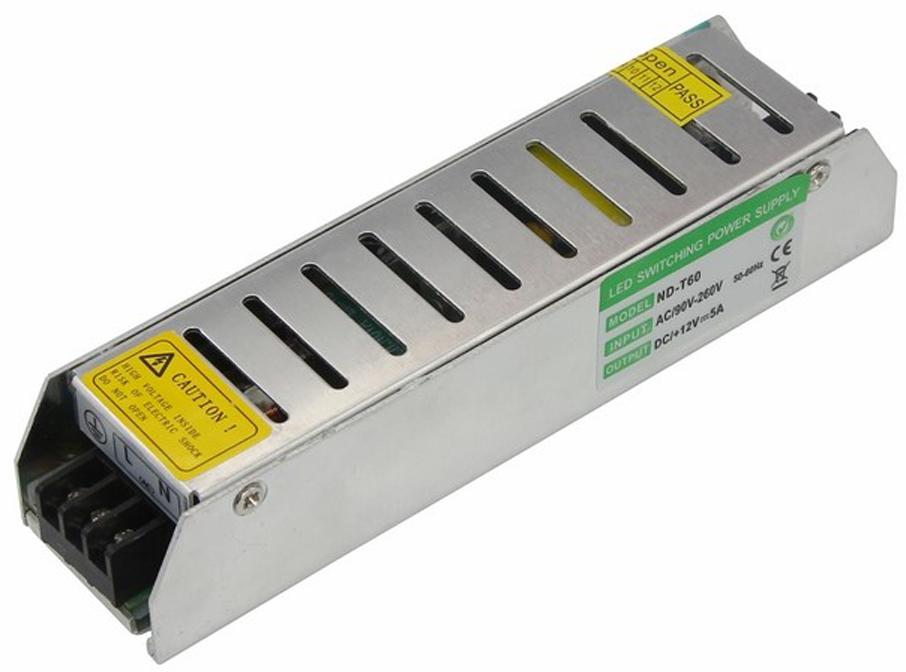 Источник питания можно использовать не только для LED продукции, но и для систем безопасности, видеонаблюдения и питания любых других низковольтных систем. Данная модель имеет мощность 60 Вт и разъемы под винт для подключения.