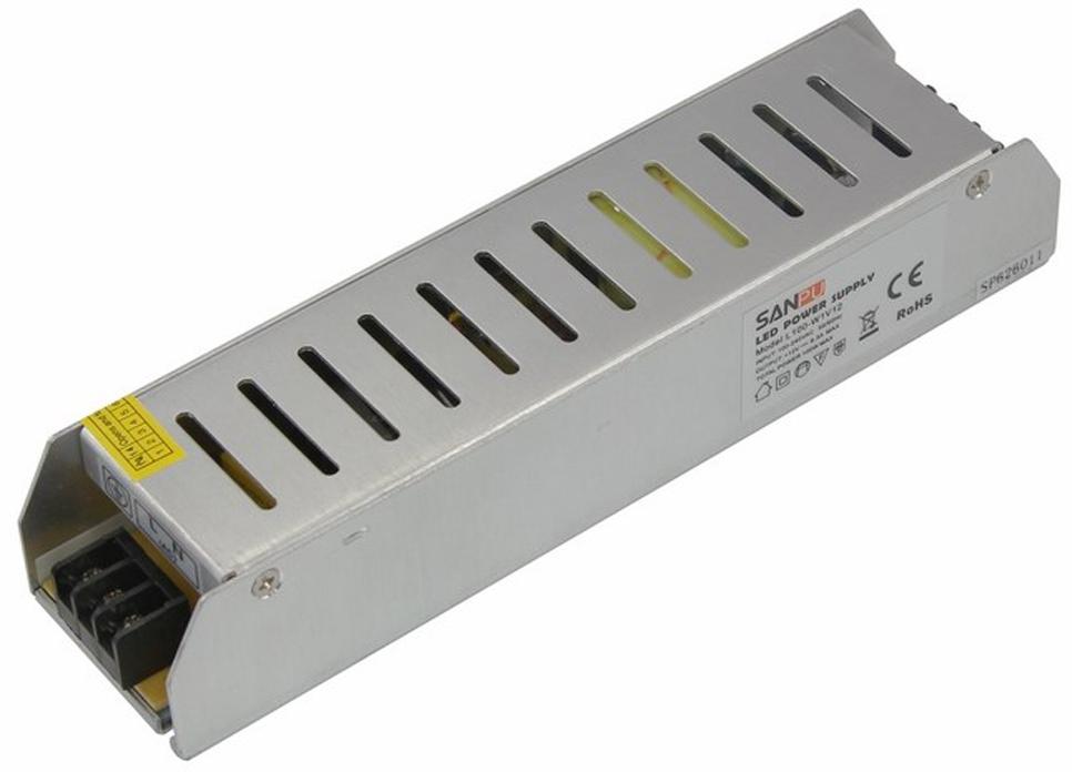 Блок питания для светильника Rexant, компактный 12V, 120W с разъемами под винт, без влагозащиты