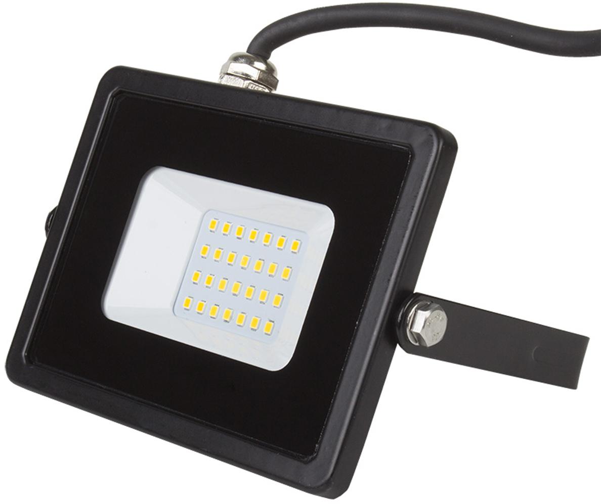 Прожектор уличный Lamper, светодиодный, теплый белый свет, 30 Вт
