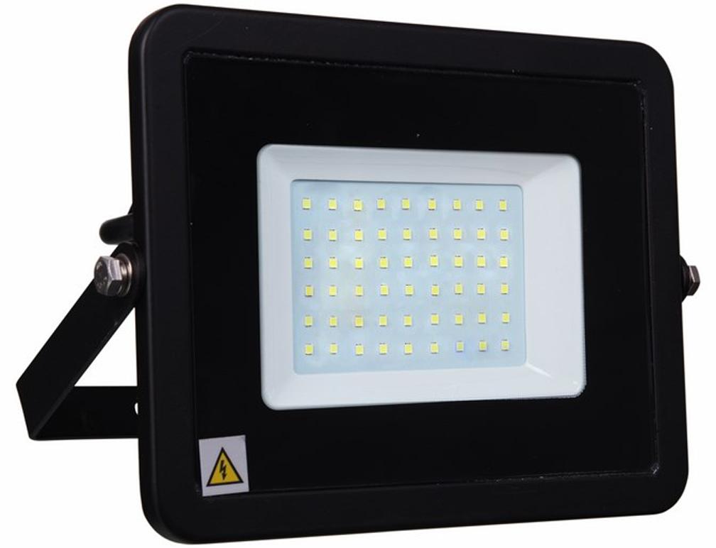 Прожектор уличный Lamper, светодиодный, теплый белый свет, 50 Вт