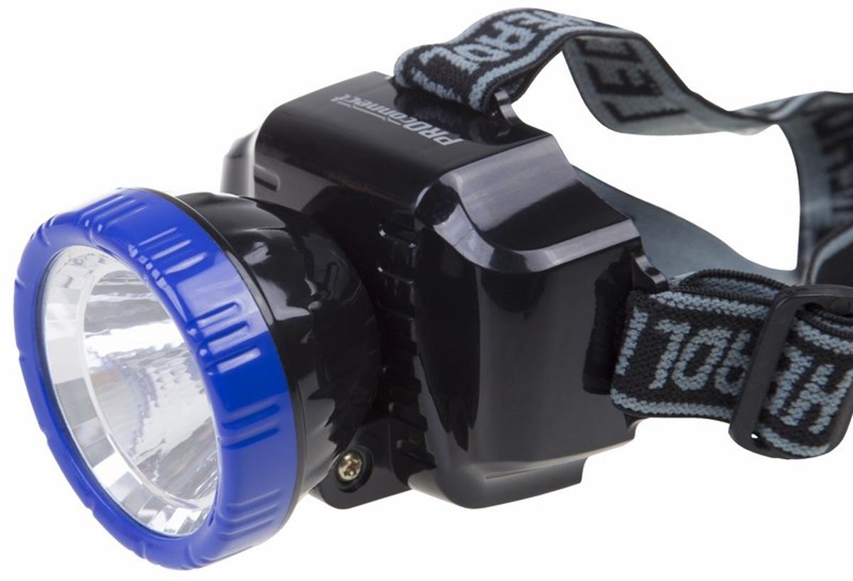 Фонарь налобный PROconnect CH-010, заряжаемый налобный фонарь sunree d1
