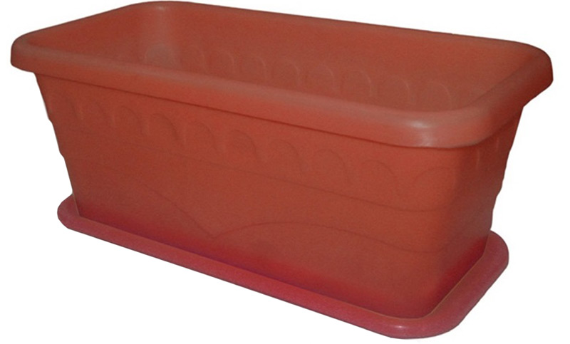 Ящик балконный Феерия, с поддоном, 38 х 19 х 15 см ящик универсальный альтернатива раскладной 38 5 х 25 5 см