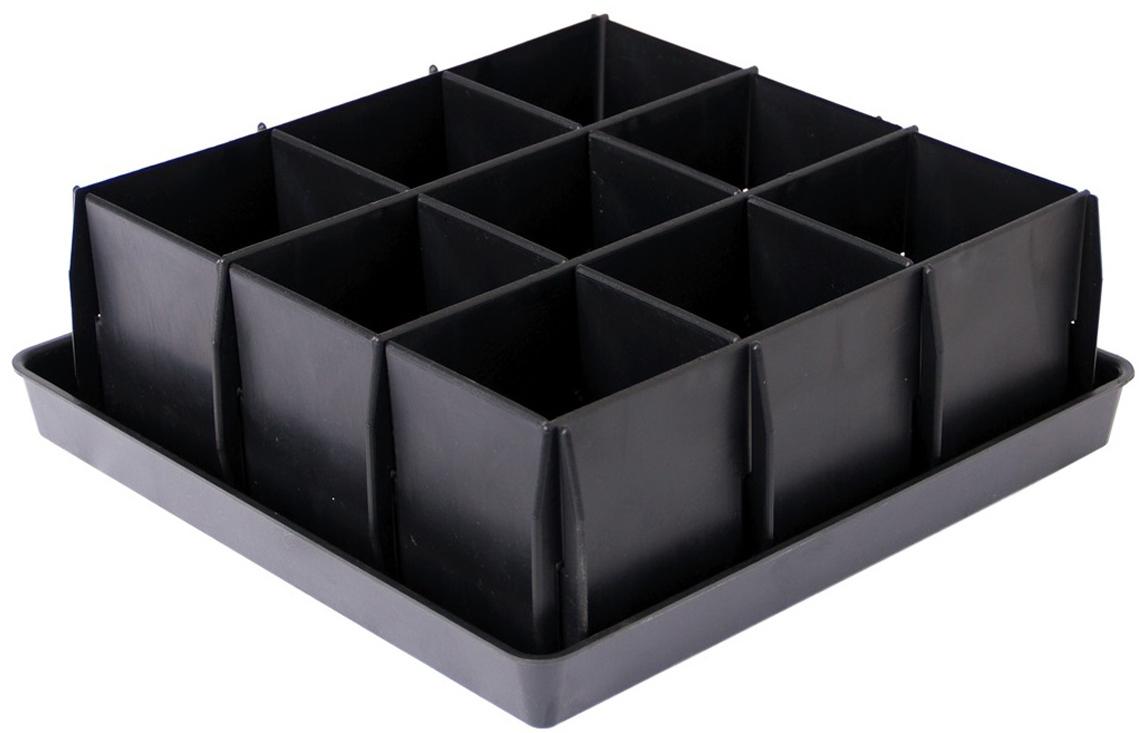 """Комплект соединяемых пластин на поддоне. Легко разбирается, не повреждая корневую систему растений. На ящике имеются """"ножки"""". Идеален для посадки растений с развитой корневой системой (томаты, перцы)."""