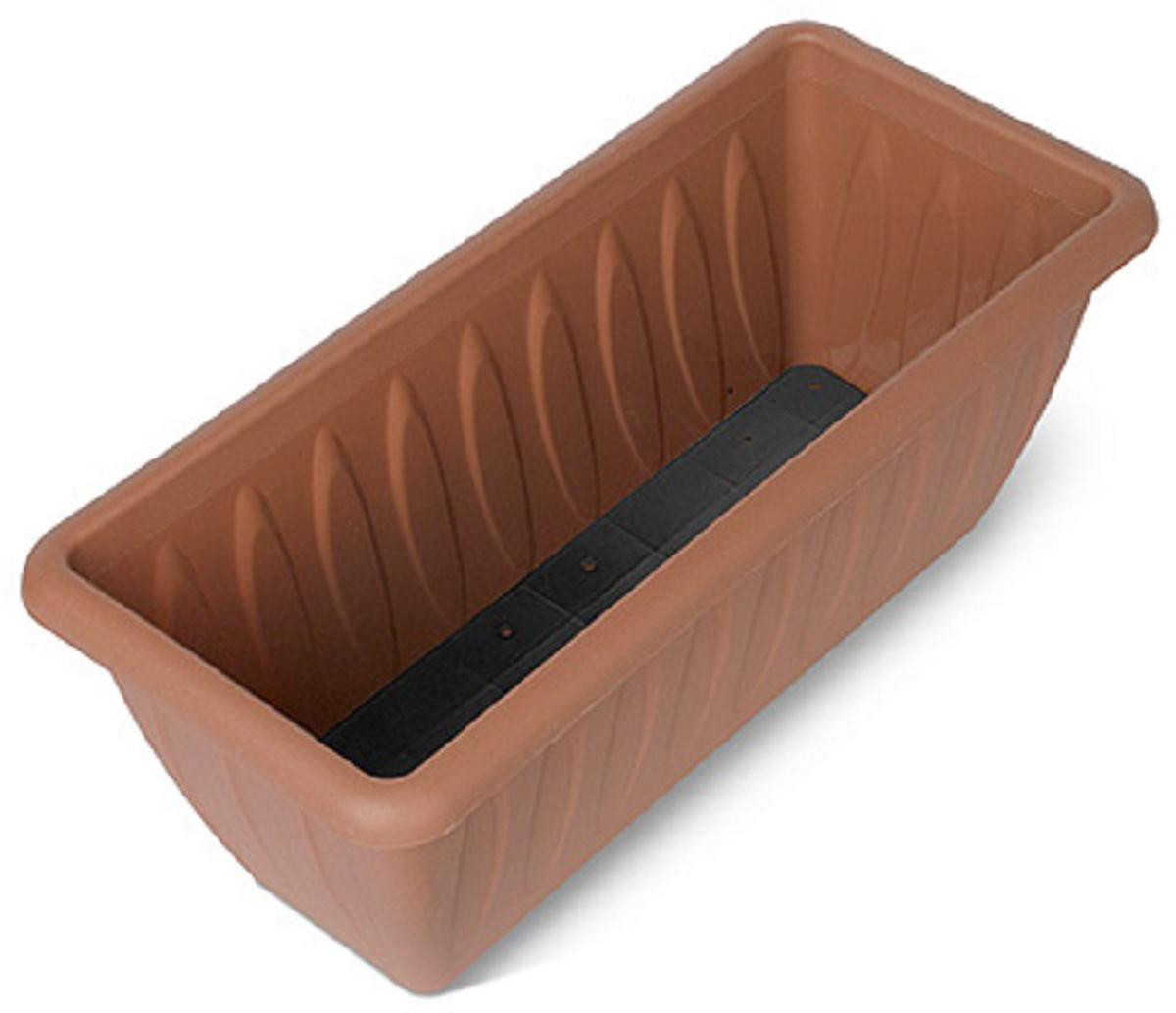 Балконный ящик Martika Фелиция, с дренажной решеткой, 40 х 18,3 х 16 смС186-05-ТЕРЯщик для растений с дренажной решеткой