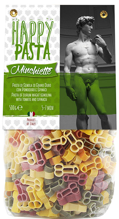 Dalla Costa Minchiette Фигурные без яиц со шпинатом и томатами, 500 г