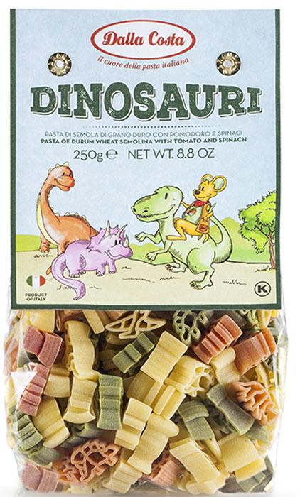 Dalla Costa Динозавры Фигурные без яиц со шпинатом и томатами, 250 г