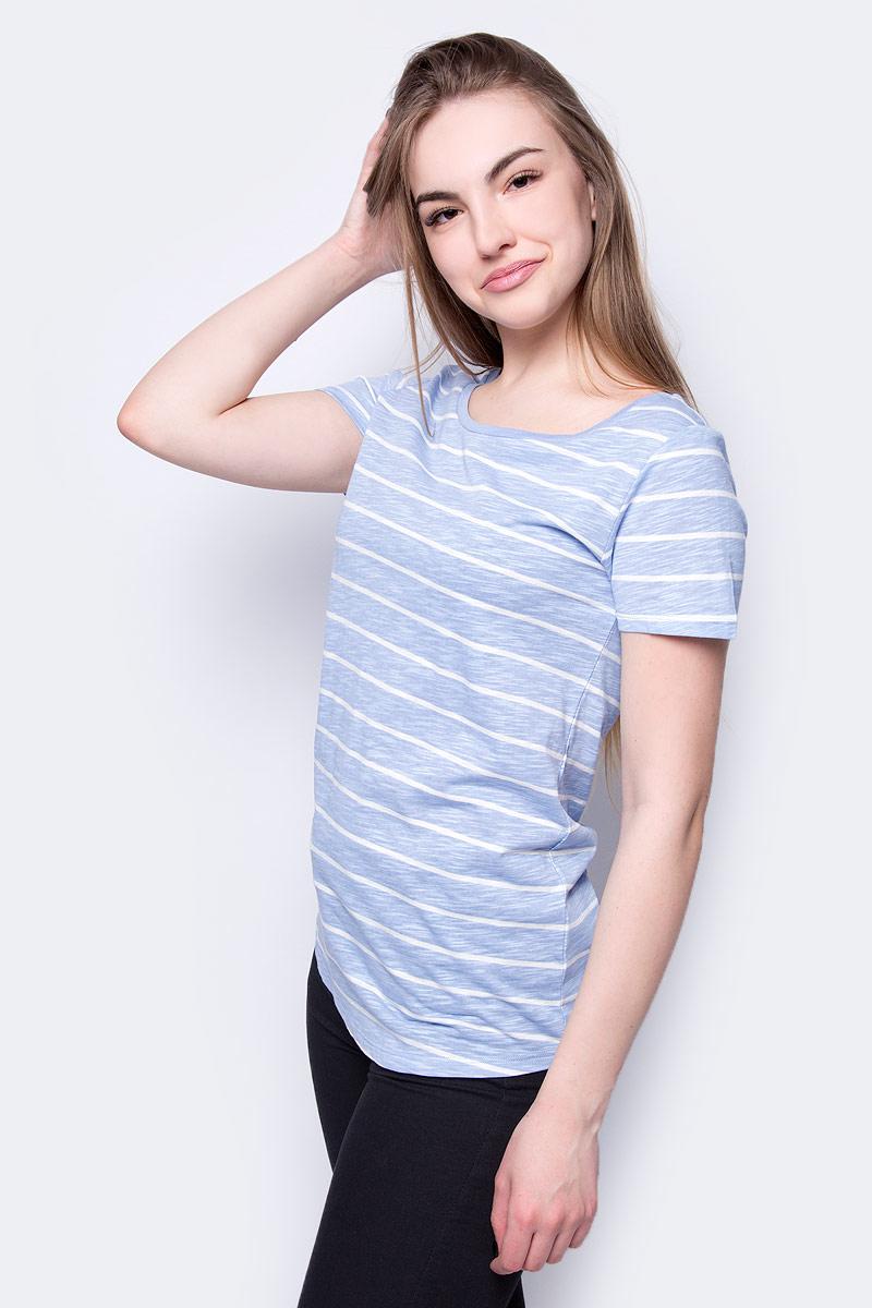 Футболка женская Sela, цвет: светло-голубой. Ts-111/236-8182. Размер XL (50)