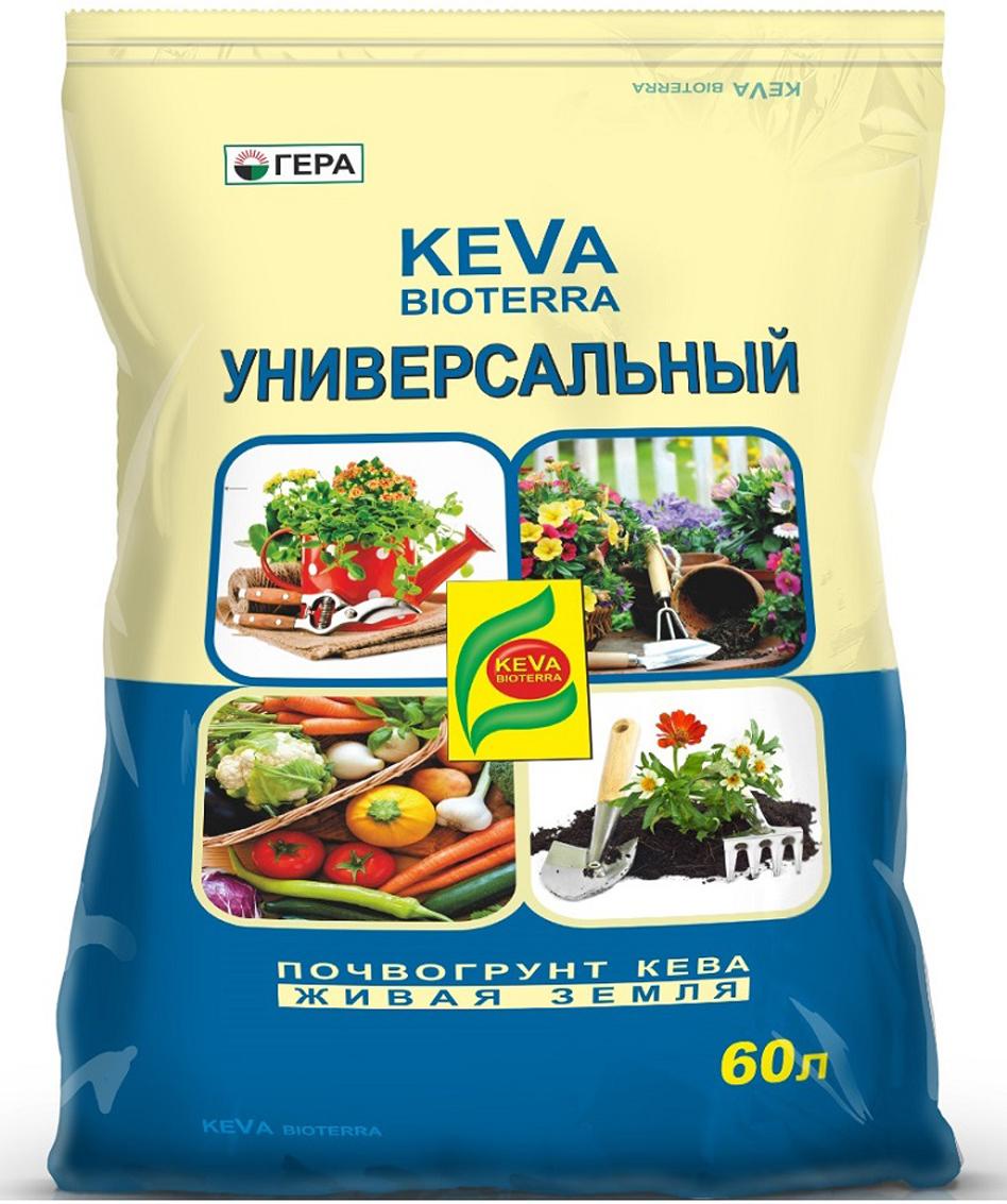 """Почвогрунт Гера """"Keva Bioterra"""", универсальный, 60 л"""