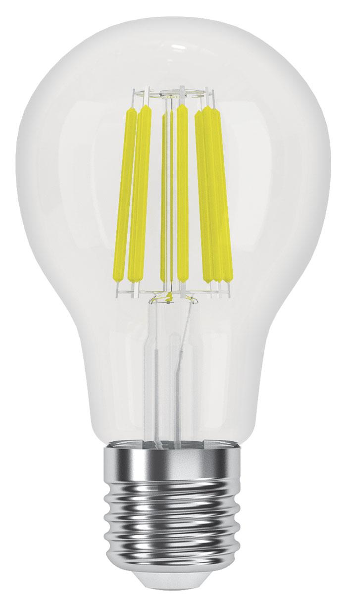 Лампа светодиодная Фотон LED FL A60, теплый свет, E27, 8W 3000K23043Филаментные ретро-лампы Фотон - это комфортное освещение за счёт использования светодиодов последнего поколения, высокой светоотдачи, цветопередачи и низкого уровня пульсации светового потока. Созданы на основе светодиодов, скомпонованных в виде нитей, создающих мягкое рассеянное освещение. Прозрачная стеклянная колба, такая же как используется в обычных лампах накаливания. Выглядят практически неотличимо от ламп накаливания, при этом обладают всеми преимуществами светодиодных ламп - экономия электроэнергии до 90% по сравнению с лампами накаливания и до 50% по сравнению с люминесцентными, срок службы в 15-30 раз дольше ламп накаливания и в 3-5 раз дольше компактных люминесцентных ламп, при этом он не зависит от количества включений.На светодиодные лампы «ФОТОН» предоставляется гарантия 3 года, НЕ ТРЕБУЕТСЯ заполнение гарантийного талона с печатью / подписью продавца, гарантия является БЕЗУСЛОВНОЙ