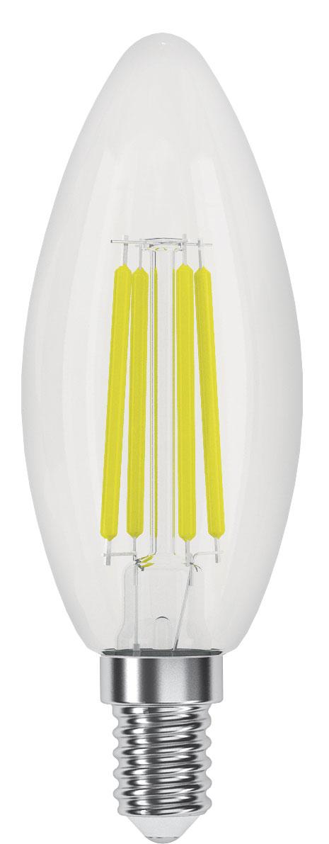 Лампа светодиодная Фотон LED FL B35, теплый свет, E14, 4W 3000K23044Филаментные ретро-лампы Фотон - это комфортное освещение за счёт использования светодиодов последнего поколения, высокой светоотдачи, цветопередачи и низкого уровня пульсации светового потока. Созданы на основе светодиодов, скомпонованных в виде нитей, создающих мягкое рассеянное освещение. Прозрачная стеклянная колба, такая же как используется в обычных лампах накаливания. Выглядят практически неотличимо от ламп накаливания, при этом обладают всеми преимуществами светодиодных ламп - экономия электроэнергии до 90% по сравнению с лампами накаливания и до 50% по сравнению с люминесцентными, срок службы в 15-30 раз дольше ламп накаливания и в 3-5 раз дольше компактных люминесцентных ламп, при этом он не зависит от количества включений.На светодиодные лампы «ФОТОН» предоставляется гарантия 3 года, НЕ ТРЕБУЕТСЯ заполнение гарантийного талона с печатью / подписью продавца, гарантия является БЕЗУСЛОВНОЙ