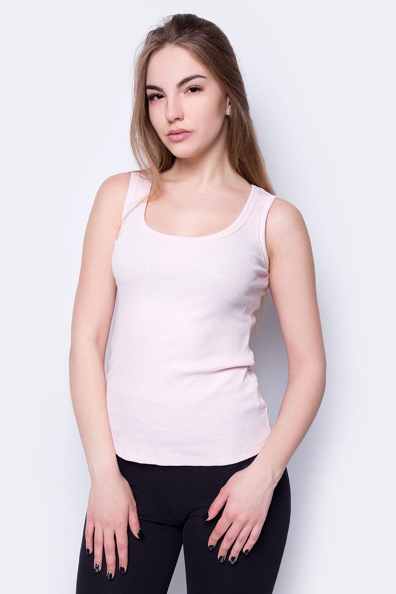 Топ женский Sela, цвет: светло-розовый. Tsl-111/343-8273. Размер S (44)Tsl-111/343-8273Оригинальный женский топ Sela выполнен из натурального хлопка с добавлением эластана. Модель прилегающего кроя подойдет для прогулок и дружеских встреч, будет отлично сочетаться с джинсами и брюками, а также гармонично смотреться с юбками. Мягкая ткань комфортна и приятна на ощупь.