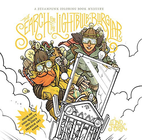 The Search for the Lightbulb Burglar: A Steampunk Coloring Book Mystery verne j journey to the centre of the earth