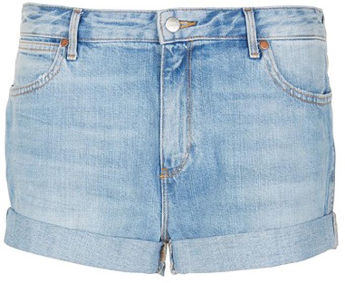 Шорты женские Wrangler, цвет: синий. W29KFH127. Размер S (42) шорты женские